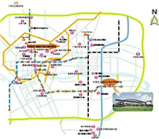 线路二:解放北路——江南大道——新港中路 线路三 :越秀公园站——新